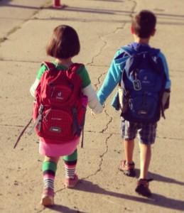 siblings going to school 2